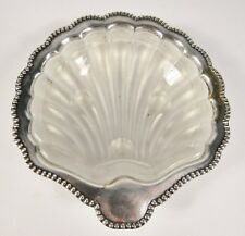 Vintage CELTIC Made in England English Silverplate Shell Butter Dish