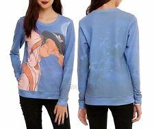 New Disney Aladdin Jasmine Kiss Girls Pullover Top Sweatshirt Long Sleeve Jumper