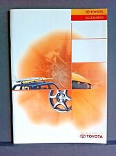 TOYOTA ACCESSORIES and PERSONALISATION - 1999/2000 Sales Brochure