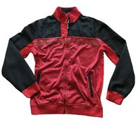Ecko Unlimited Mens Sz M Red/Black Full Zip Embroidered Track Jacket Collar