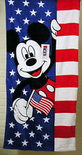 """Mickey Mouse Americana Beach Towel 28"""" x 58"""" Disney by Jumping Beans New"""