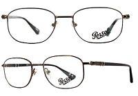 Persol Damen Herren Brillenfassung  2431-V 989 51mm metall rechteckig 274 2