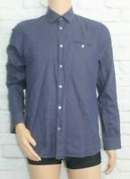 "Ted Baker Blue long sleeved shirt Size 3 Collar 15"" M690"