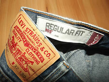 "Levis 505 Regular Fit Jeans W32"" L26"" BLU (ORIGINALE) 457"