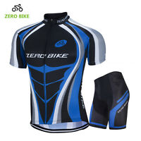 Men's Sport Wear Team Cycling Jersey Sets Bike Bicycle Top Short Sleeve Clothing