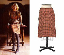 Elevenses Anthropologie rare 2004 coral pink tweed Sylvia Skirt 12