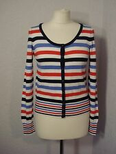 M&S blue, red & white striped cardigan 8