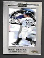 TODD HELTON 2002 FLEER SHOWCASE AVANT CARD #109 COLORADO ROCKIES