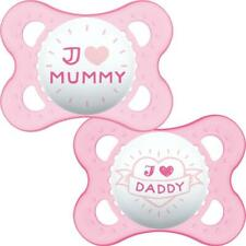 MAM STYLE 0+M SOOTHER - PINK Baby Infant Dummies Sleep Aid BN
