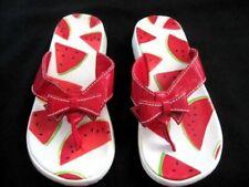 Gymboree Girls Swimwear Watermelon Picnic Bow Red White Flip Flops Shoes 13-1
