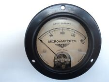 Vintage Jewell Pattern 200 Microamperes Panel Gauge Direct Current
