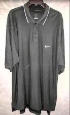Mens Nike XXL Black Dri-Fit Short Sleeve Golf Shirt