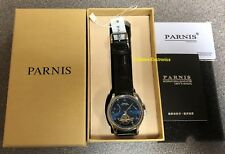 Parnis 43mm Sapphire  Auto Power Reserve Premium Grade Men's Watch, USA Seller