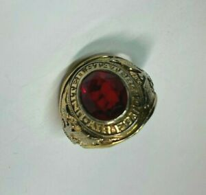 Vintage United States Air Force Military Red Garnet CZ Stone Men Size 10 3/4