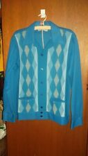 MINT Collectable Vintage BISLEY Crimplene mens button down shirt SZ M Rockabilly