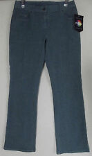 Women JEANOLOGY 4P GREEN COLORED JEANS flare leg low rise Newport News 4s