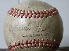 "1941 - 1945  OFFICIAL ""97"" LEAGUE BASEBALL  ""ARTHUR H EHLERS"" NAME ON BALL"