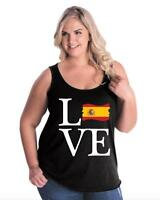 Love Spain  Women Curvy Plus Size Tank Tops