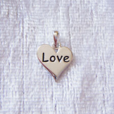 Sterling Silver Love Word Charm 11mm 925