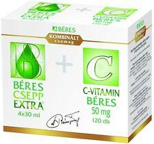BERES Drops Extra 4 x 30ml Immune System Supplement + Free Beres Vitamin C 50mg