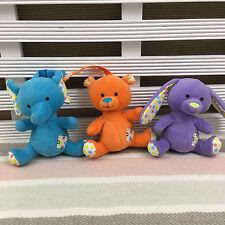 "Argos Soft carrozzina Giocattoli X 3 Elefanti, Bear & Rabbit SOFT TOYS 4"""