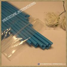 """50pcs 6"""" x 5/32"""" Plastic lollipop sticks for cake pops lollipop candy - Blue"""