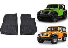 OEM Front Slush Floor Mats For 2014-2016 Jeep Wrangler 2 Door New Free Shipping