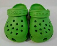 Crocs Boys or Girls Toddler Shoes Size 4 / 5  Rubber Slip On Green
