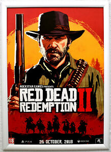 Red Dead Redemption 2 RARE PS4 XBOX ONE 42cm x 59cm Promotional Poster #2