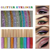 Makeup  Shiny Smoky Eyes Eyeshadow Waterproof Glitter Liquid Eyeliner *