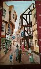vintage York  Picture Rug Wall Hanging