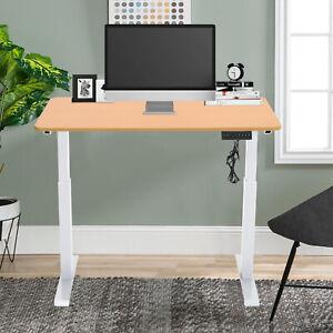 ELECTRIC SIT STAND UP DESK OFFICE ADJUSTABLE LAPTOP TABLE COMPUTER DESK RISER UK