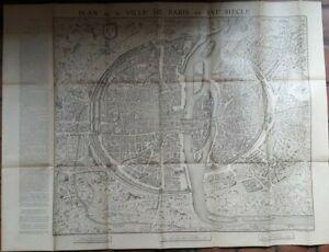 Plan de la ville de Paris au XVIe siècle - TARIDE