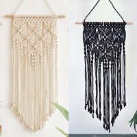 "31.5"" Handmade Macrame Wall Hanging Woven Wall Art Macrame Tapestry Home Decor"