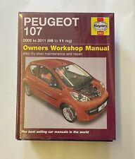 Haynes 4923 Manual for Peugeot 107 2005-2011