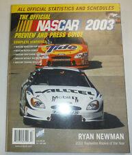 Nascar Magazine Ryan Newman 2003 Guide 122314R2