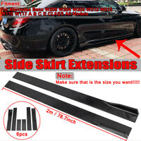 Black Side Skirts Extension for Mercedes Benz W205 C63 AMG W204 C Class All !!
