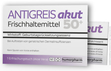 """Witzige Geschenkidee zum Geburtstag """"ANTIGREIS akut - für alle ab 50"""""""
