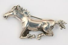 Vintage Artisan Crafted Sterling Silver Horse Brooch Pin Pony Figural Animal