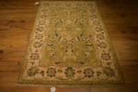 4x6 Quality Veg Dyed New Wool Hand-Knotted Green Oushak Area Rug