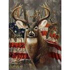 Diamond Deer With American Flag Painting Design Mosaic Portrait Wal Home Display