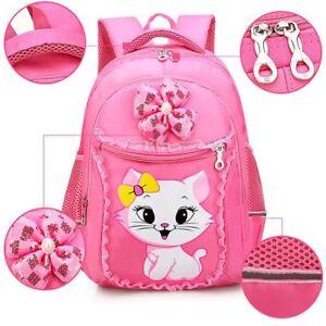 Cartoon School Bag For Girls Sweet Cute Princess Cat Backpack Primary School