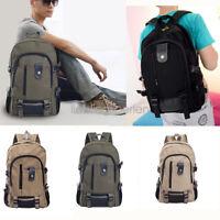 Unisex Women Men Canvas Backpack School Satchel Shoulder Laptop Bag Travel DS