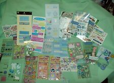 Large LOT  Baby Scrapbooking Stickers Labels Words 3D Vellum Jolees VARIETY