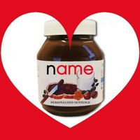 Personalizzato San Valentino Nutella Etichetta Regalo per Uomo o Donna, Lui Lei