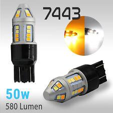 High Power 7443 Type 1 Switchback White/Amber 2835 LED Turn Signal 580LM Light