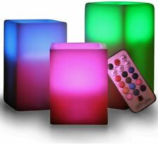 Flameless Led Candles Color Changing Battery Fake Flicker Ivory Remote & Timer