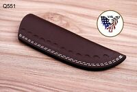 Double Stitch Custom Hand Made Pure Leather Sheath For Fixed Blade Knife - Q 551