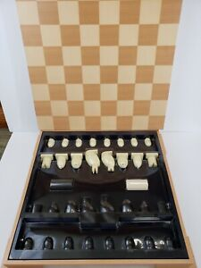 Large Michael Graves Design Chess / Checkers Set Wood Board Mid Century Modern