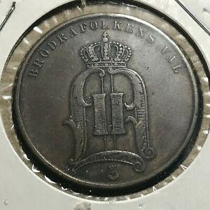 1895 SWEDEN 5 ORE BETTER GRADE BRONZE COIN